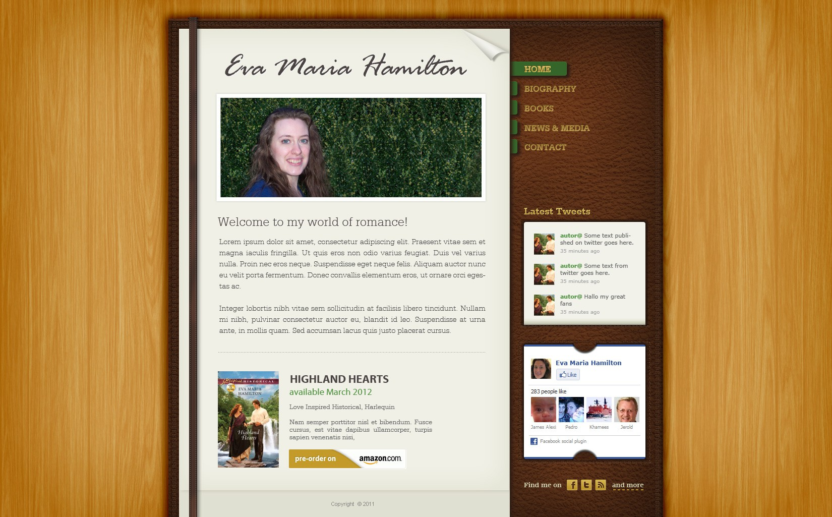 New Homepage for Harlequin Author - Eva Maria Hamilton
