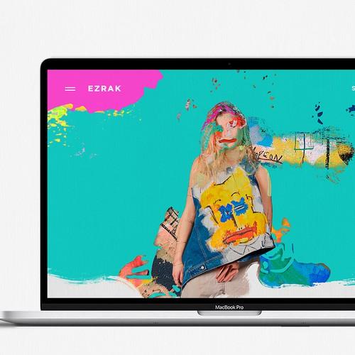 Colorful E-commerce prioritizing creativity and individuality for Ezrak