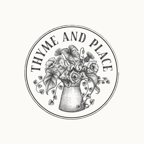 Logo design for garden shop Thyme and Place