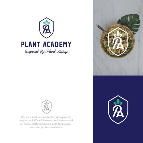 Logo for a vegan academy