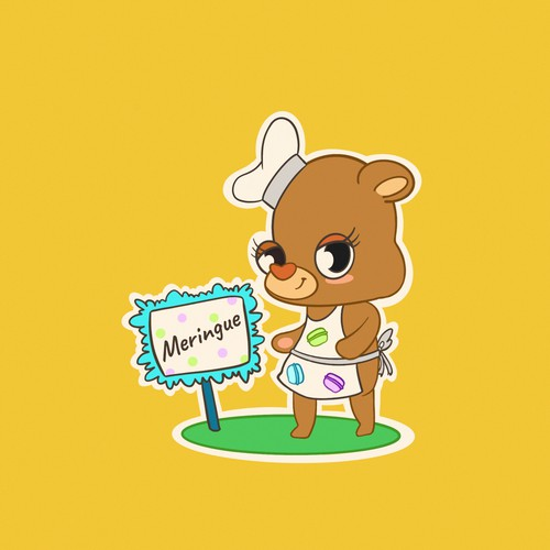 Mascot for baking sales