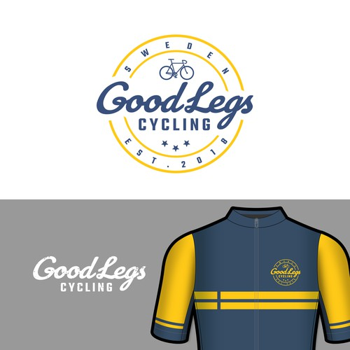 Logo design for 'Good Legs' cycling apparel store