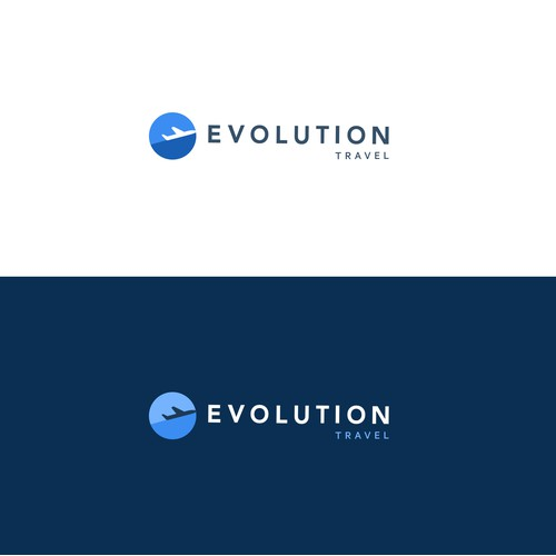 Streamlined logo concept for travel agency