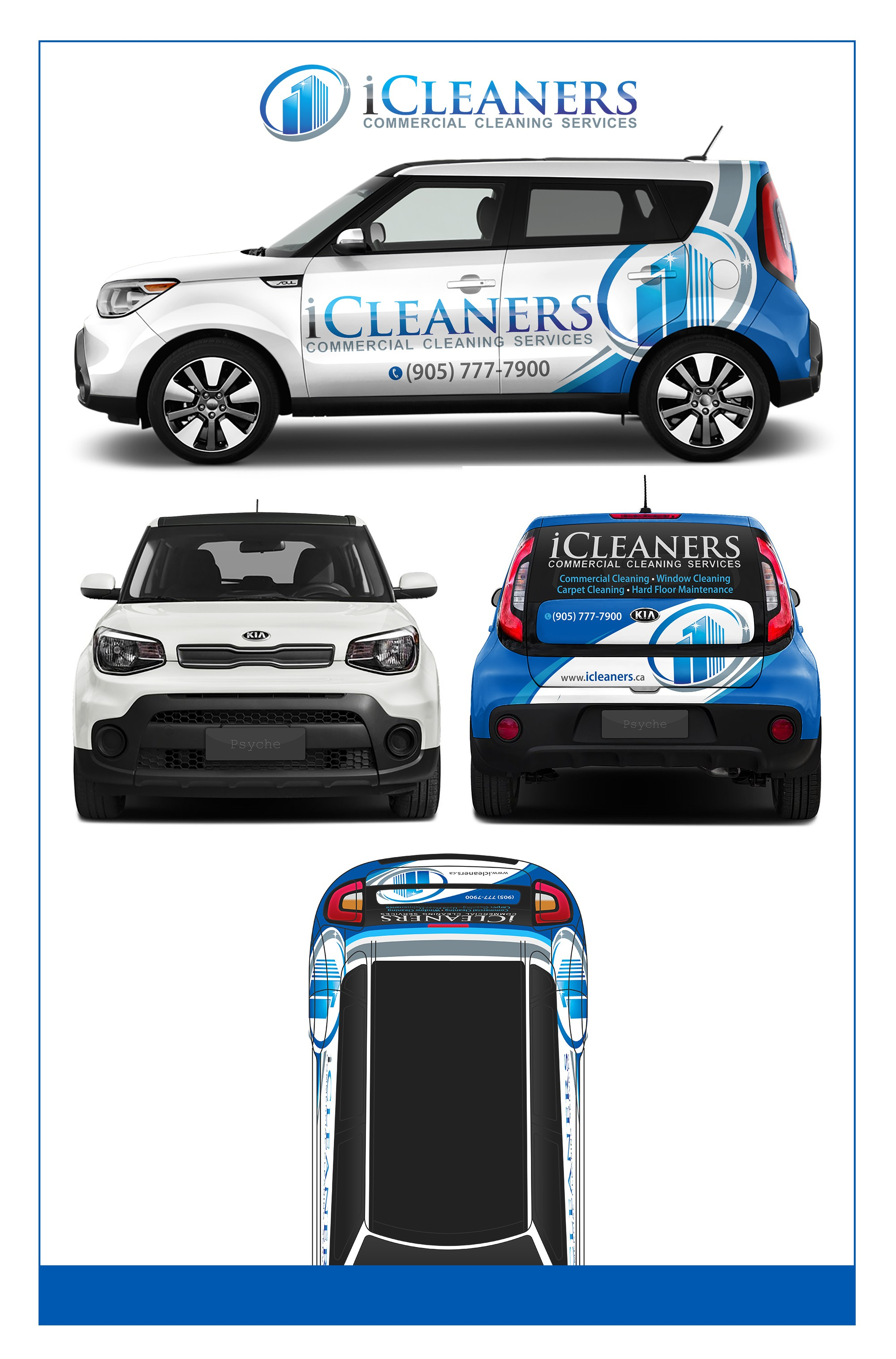 Unique Vehicle Wrap Required for Commercial Cleaning Company