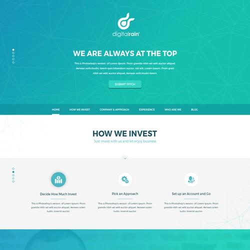Digital Rain Business Website Design
