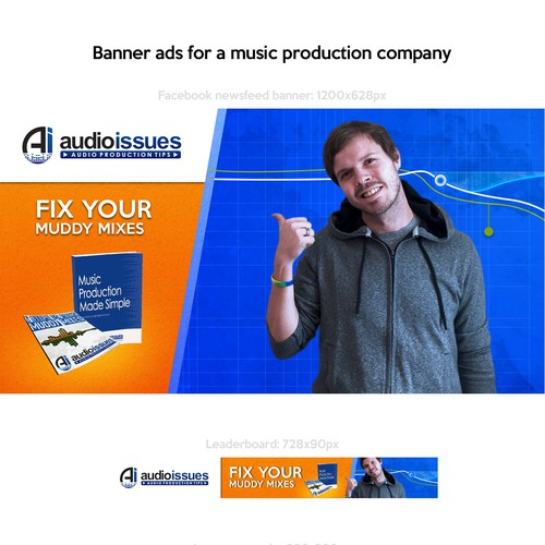 Banner ads for music production company