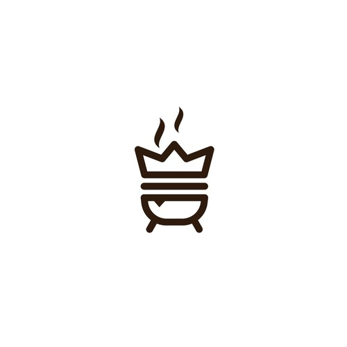 Bold logo for the kings of grilled meat sandwiches
