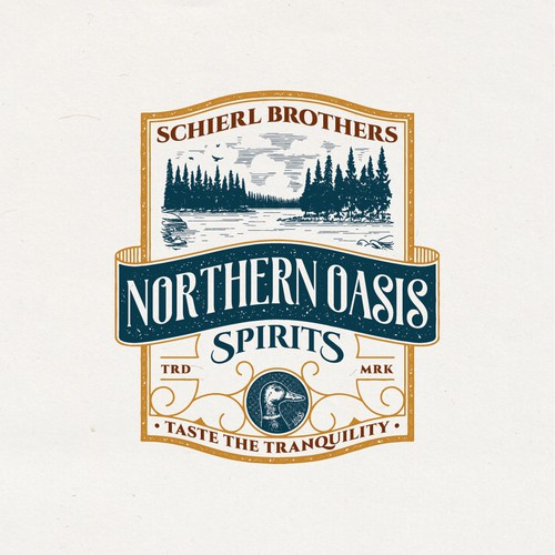 Vintage Logo for Schierl Brothers Northern Oasis Spirits
