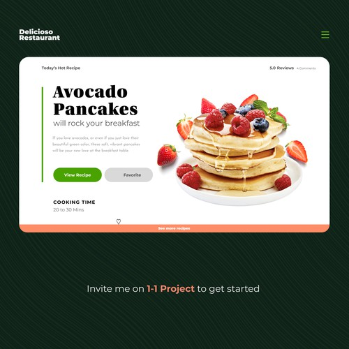 Food Restaurant homepage and ui exploration