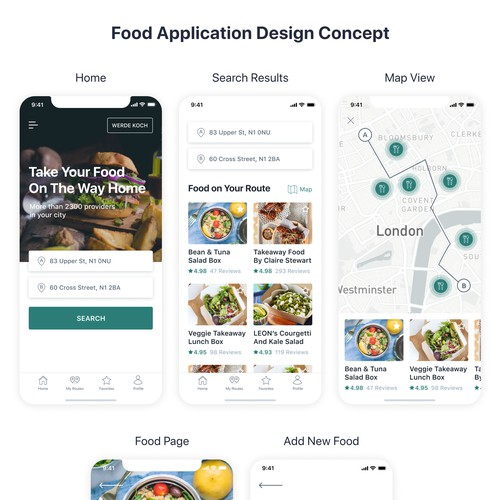 Food Application Design Concept