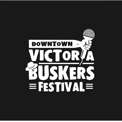 Logo concept for Downtown Victoria Buskers Festival