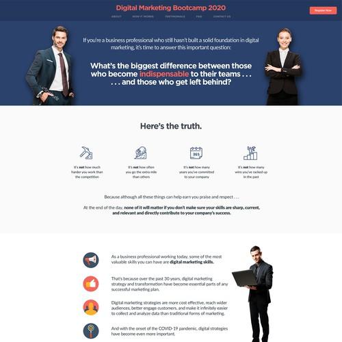 Long form Sales page Design