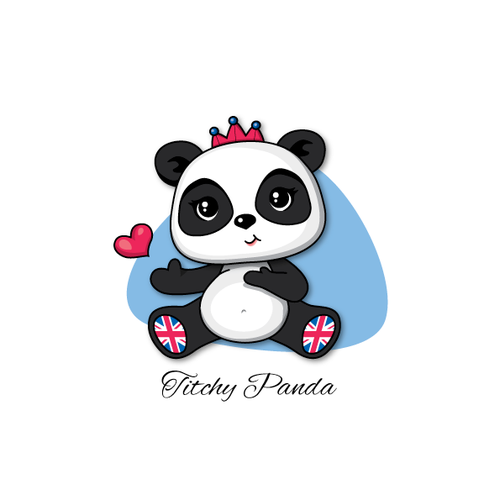 Create a cartoon/character image of a cute Panda