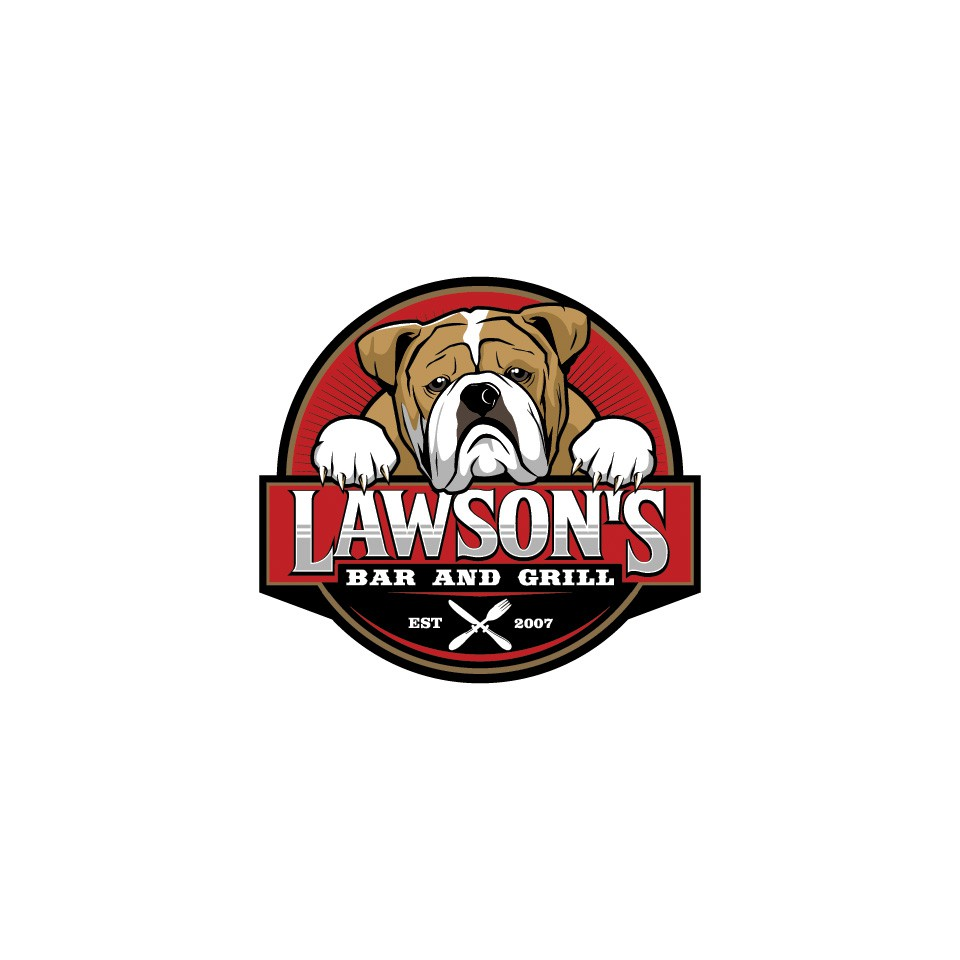 Design a hometown logo for a local Bar and Grill