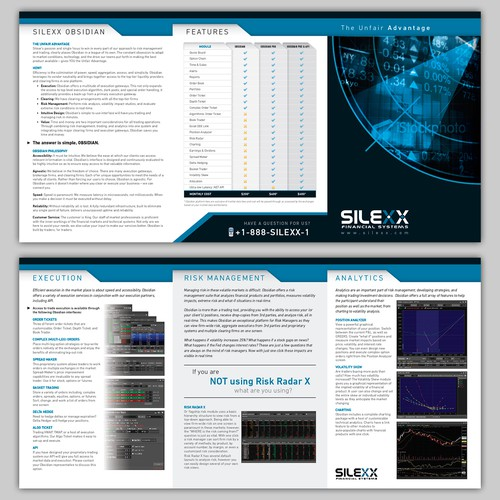 Create a brochure design for Silexx Financial Systems