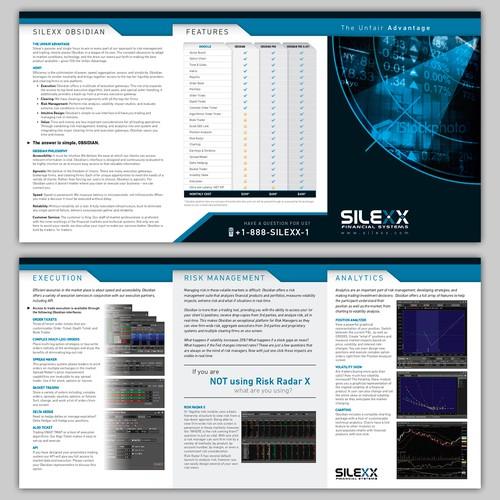 Create a brochure design for Silexx Financial Systems