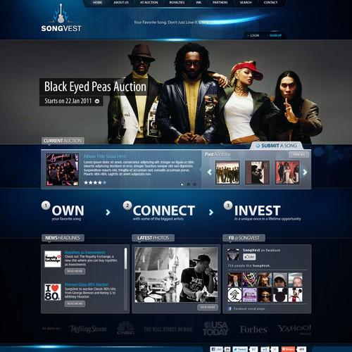 Cool music start-up needs better site