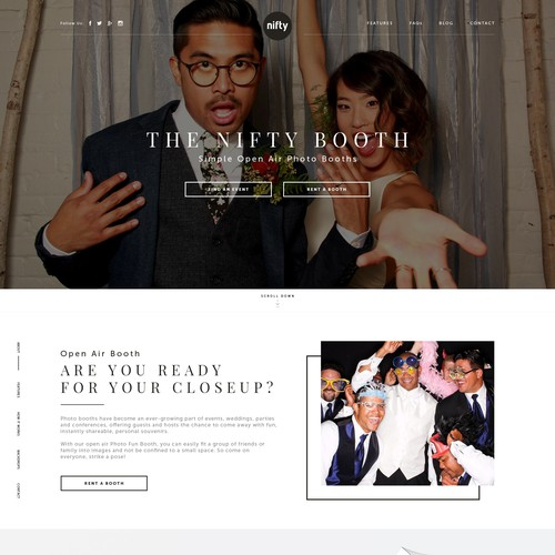 Create a new Wordpress theme for awesome new photo booth rental company