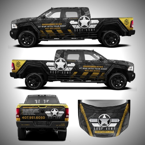 Badass Truck Design for Roof Company