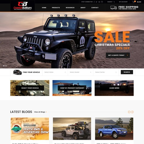Get Dirty! 4WD eCommerce Design