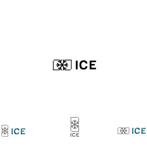 Simple Techno logo for ICE