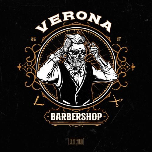 Verona Barbershop Logo