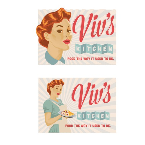 In contest We need a 1950s housewife themed logo