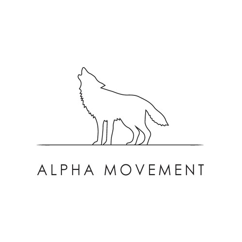 Logo meant to give off the element of strength for Alpha Movement