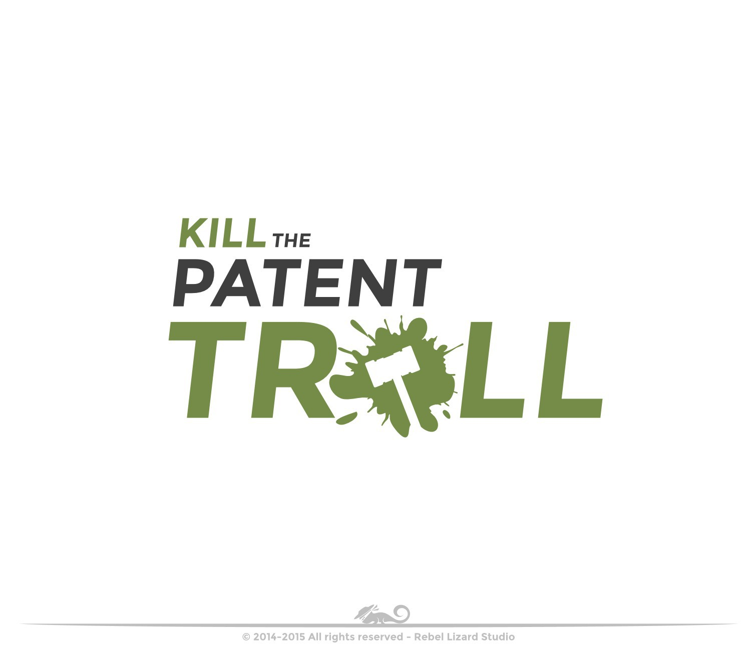 """Everyone hates a patent troll"""" Create the new logo for our new website"""