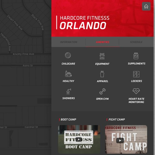 Hardcore Fitness Interactive Map