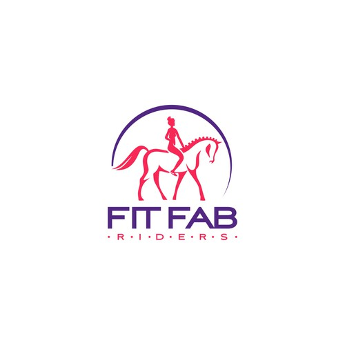 Logo design for Fit Fab Riders