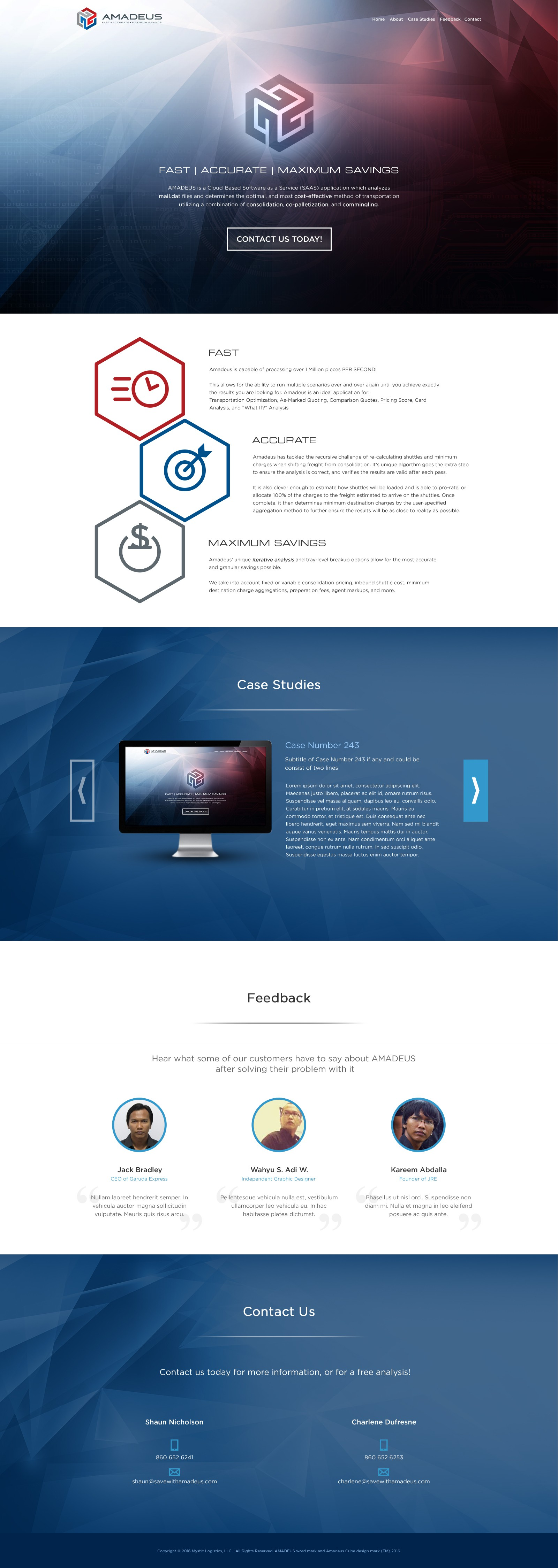 Landing page for www.SaveWithAmadeus.com