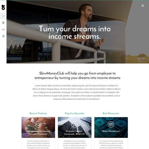 Sleek and beautiful site re-design for SlowMoneyClub