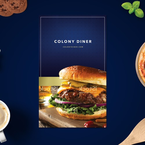 High end diner menu design