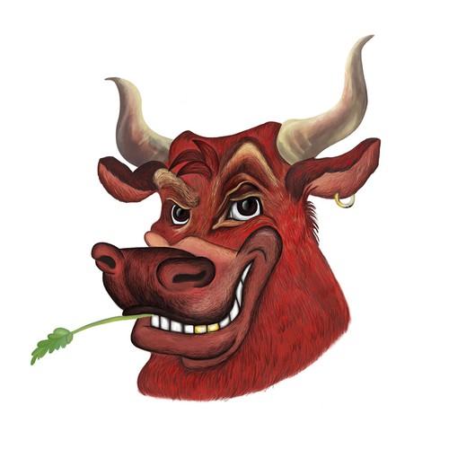illustrated bull