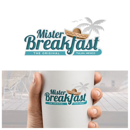 Logo concept for a beach restaurant