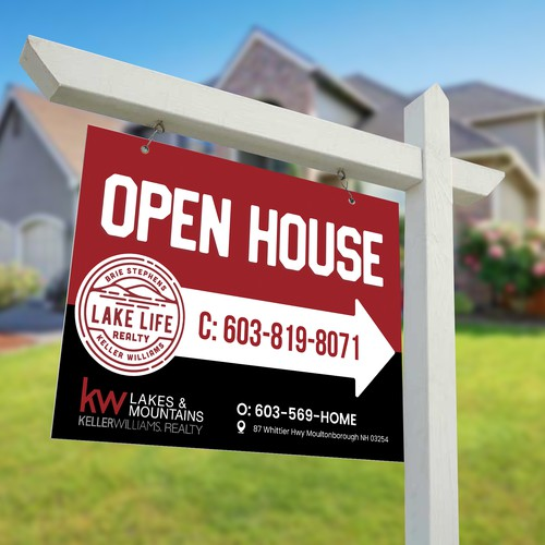 Lake Life Realty Open House Sign