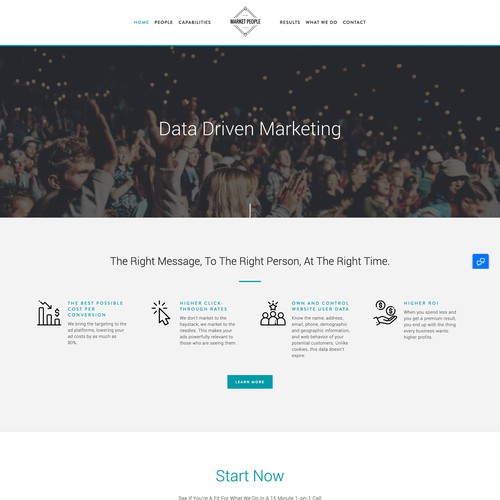 We Are Market People | Website Design and Development for a Marketing Agency