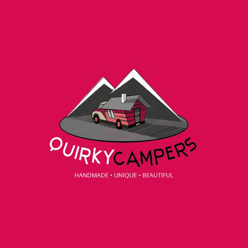 Quirky Campers logo design.
