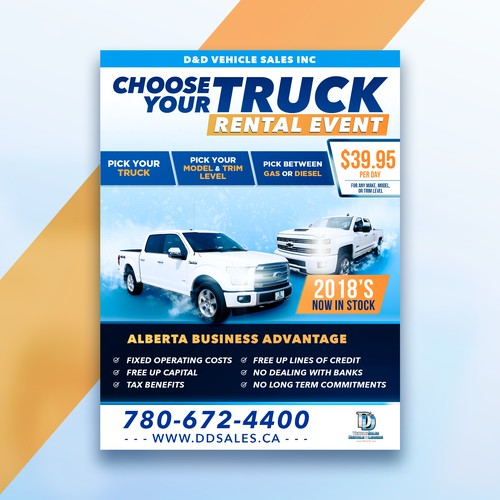 Truck Rental Event Poster