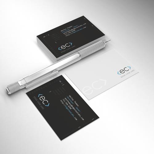 Unique Business Cards for Edge Case Labs software dev shop