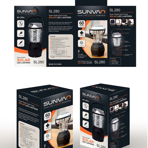 Sunvao Solar Led Lantern | BOX Packaging Design 2016