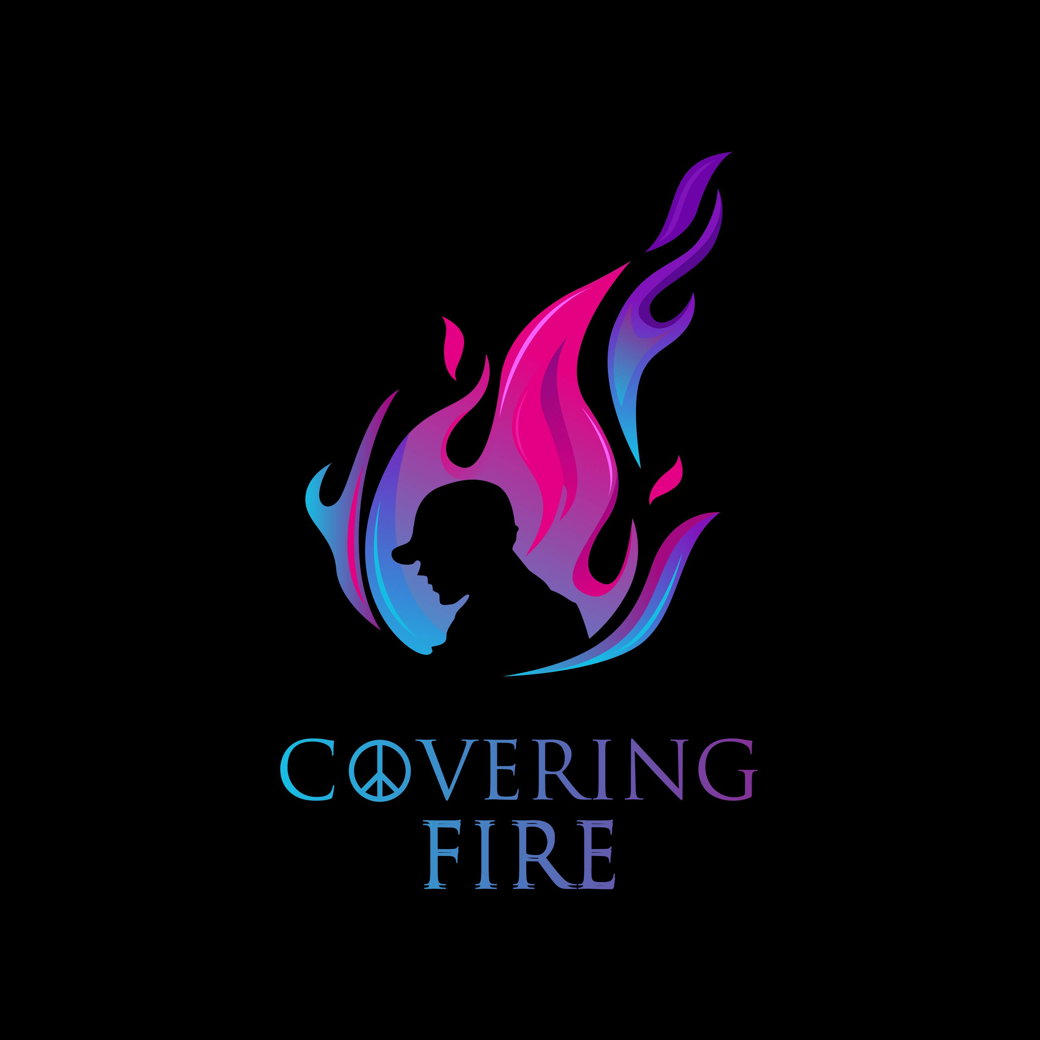 """BAND LOGO - Military/Musician/Magical - """"COVERING FIRE"""""""