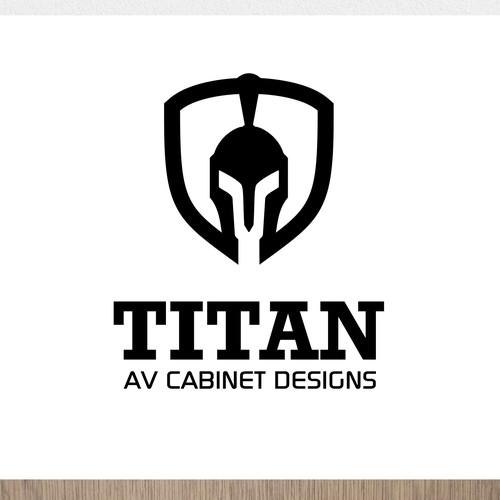 modern logo design concept for Titan AV Cabinet Designs