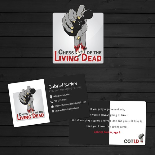 Logo and Business Card for Chess of the Living Dead