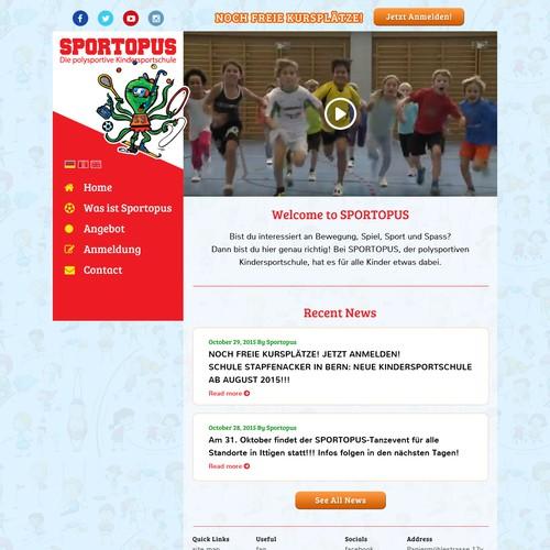 Web design for Sports School Kids