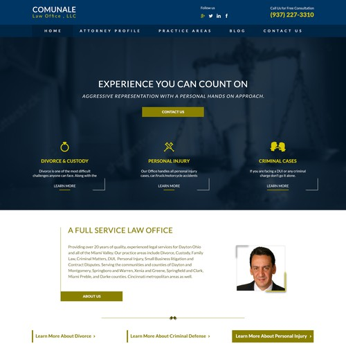 Comunale - Landing Page
