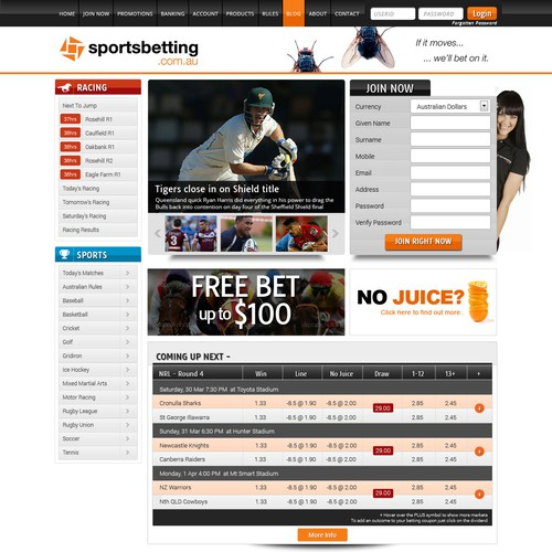 Website Design Sportsbetting