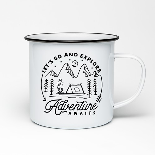 Outdoor/Adventure Enamel Cup