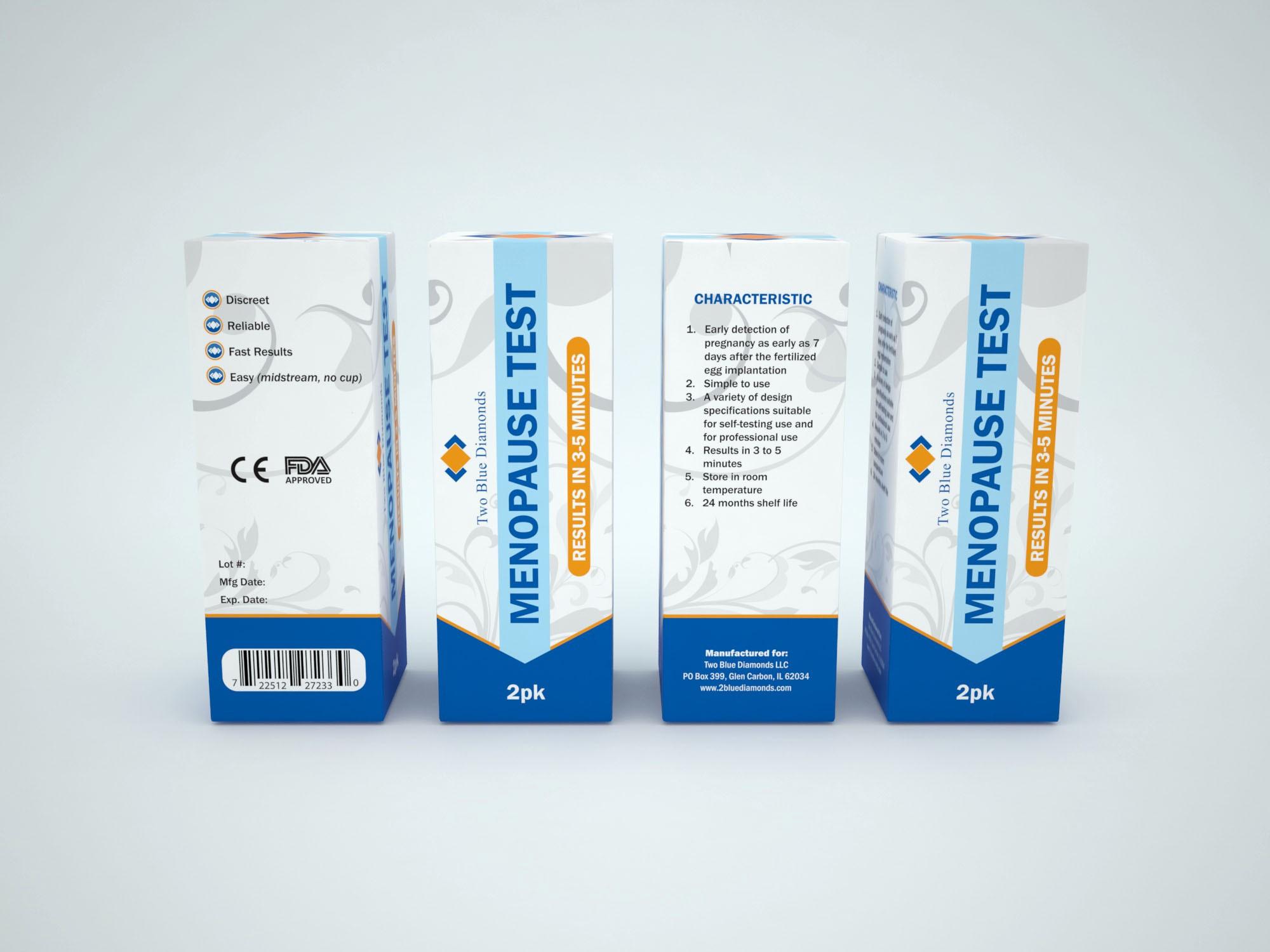 Menopause Rapid Cassette Box Design